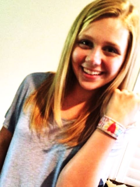 Cassie Brennan with her All You Need Is Love cuff. #allyouneedislove #nw58thst #teenchoice