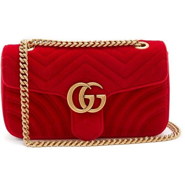 5ecb6d98 Gucci GG Marmont small quilted-velvet cross-body bag ($1,740 ...