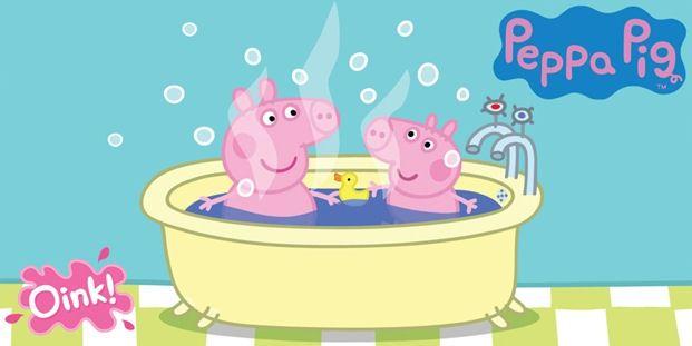 Iltapesulla käynti voi olla tosi mukavaa kun Pipsa Possu saa itse valita shampoon tuoksun ja vesilelutkin saa ottaa mukaan.