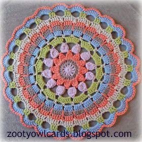 Dahlia mandala. Free pattern and photo tutorial. ✿⊱╮Teresa Restegui http://www.pinterest.com/teretegui/✿⊱╮