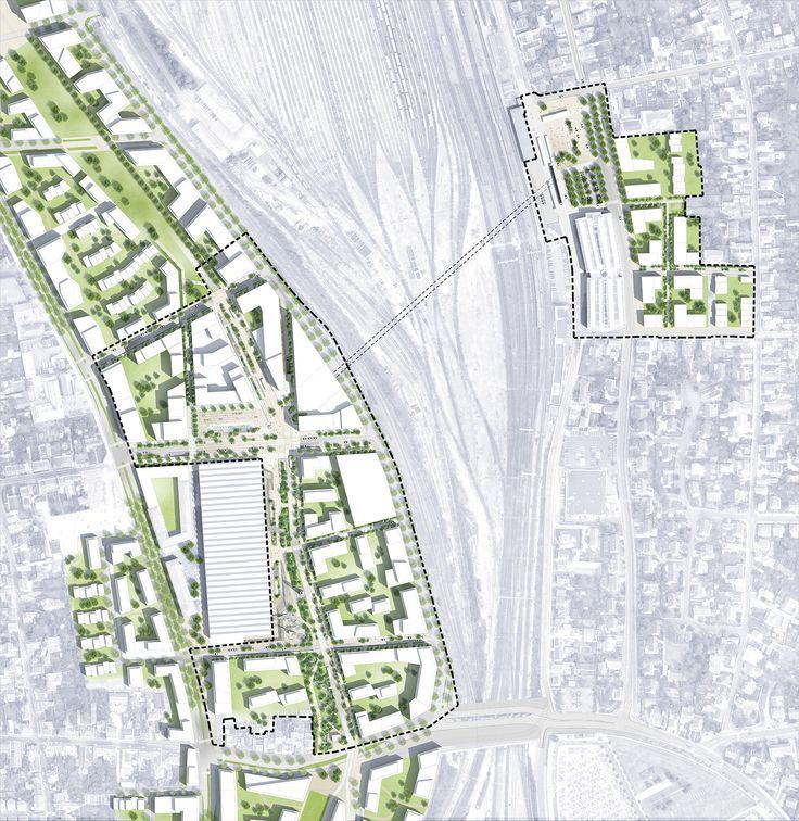 Plan masse des espaces publics d'Interives - Phase 1