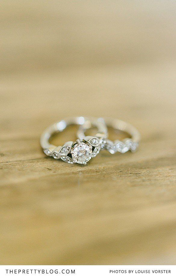 Very pretty!  Wedding rings | Louise Vorster Photography