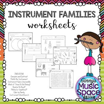 Instrument Family Worksheets are now available! These can be used during each instrument family you teach or as a review at the end of your unit.