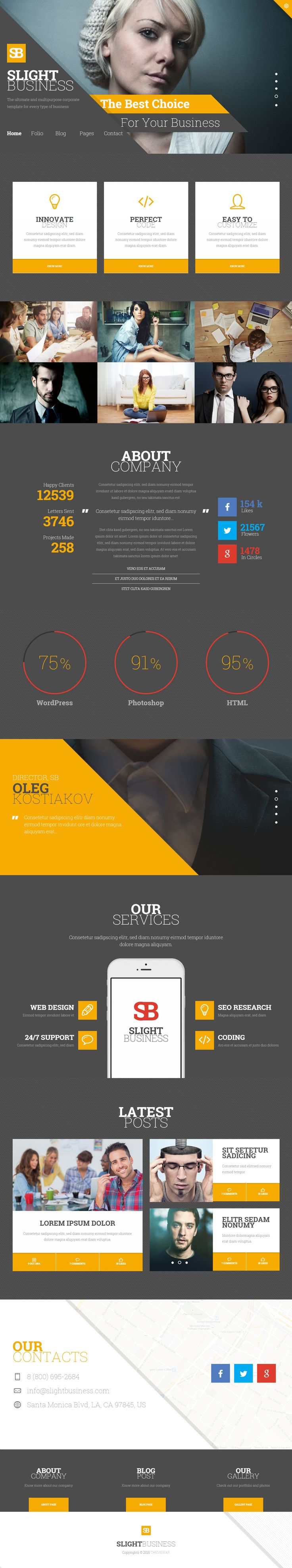 Slight Business is Premium full Responsive Retina Corporate HTML5 template. Bootstrap Framework. Google Map. Google Fonts. Test free demo at: http://www.responsivemiracle.com/cms/slight-business-premium-responsive-corporate-html5-template/