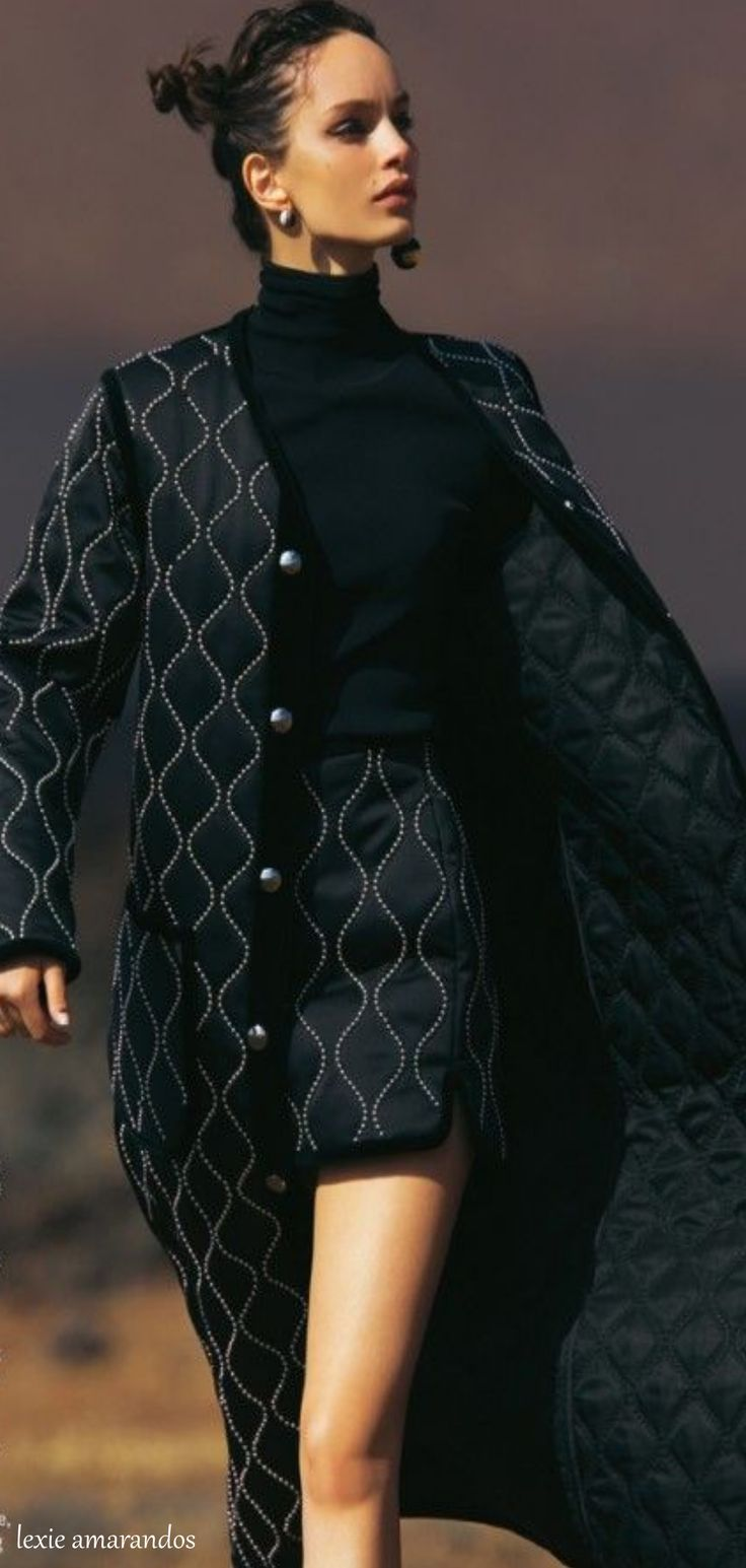 Quilted skirt suit for cold weather. I love this! x