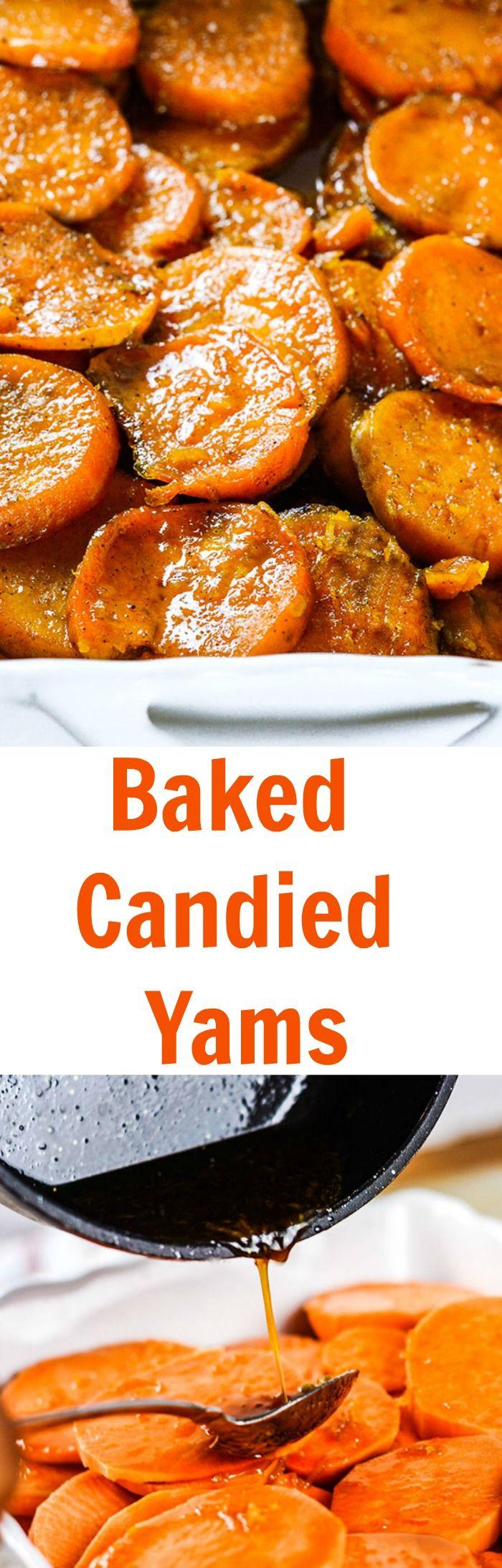 Baked Candied Yams, vegan, gluten-free
