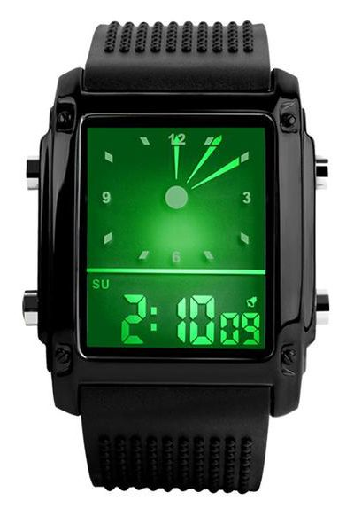 Skmei 0814 Fashion LED Dual Time Digital Fitness Watches Chronograph Waterproof Black Casual Sports Watch  $14.99