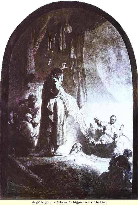 Rembrandt. The Raising of Lazarus. Olga's Gallery.