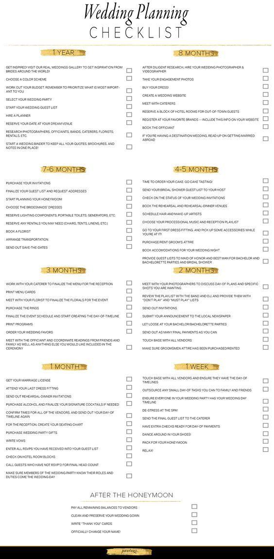 Wedding Planning Checklist via http://junebugweddings.com/wedding-blog/what-junebug-loves/from-blogger-to-bride-wedding-planning-checklist-budget-tool/