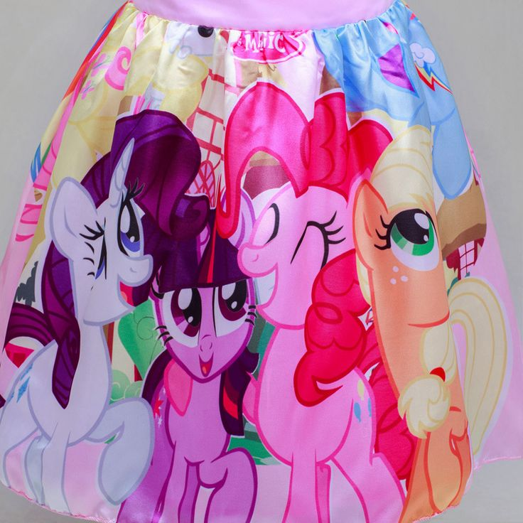 Princess My Little Pony Dresses,Purple Sleeveless Birthday Party Dress #QHMD207 - Thumbnail 3