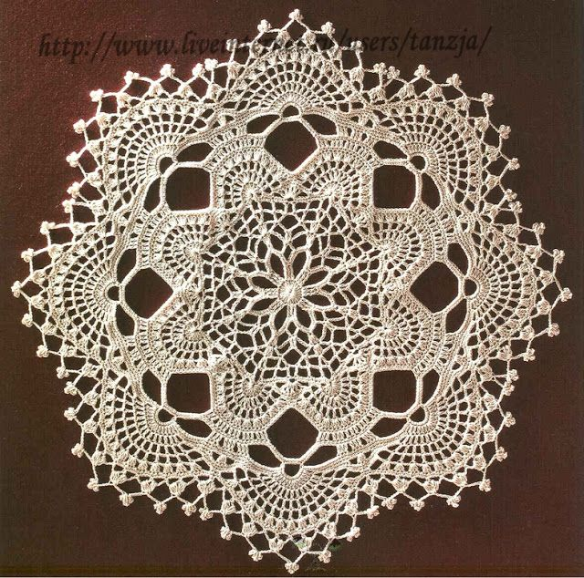 ergahandmade: Crochet Doily + Diagram