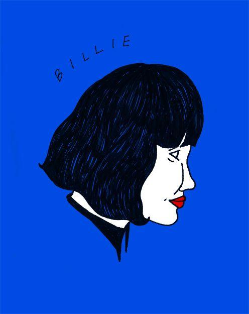 A sketch of Billie by Cynthia Merhej