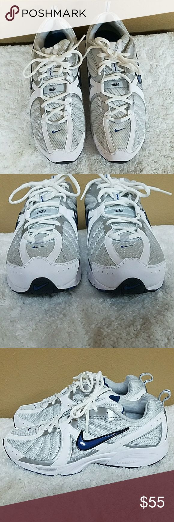 New in box Nike tennis shoes New in box men's NIKE shoes. Style is Air Vitality Walk. Color is Neutral Grey/Court Blue - White. Size 9 1/2 Nike Shoes Sneakers