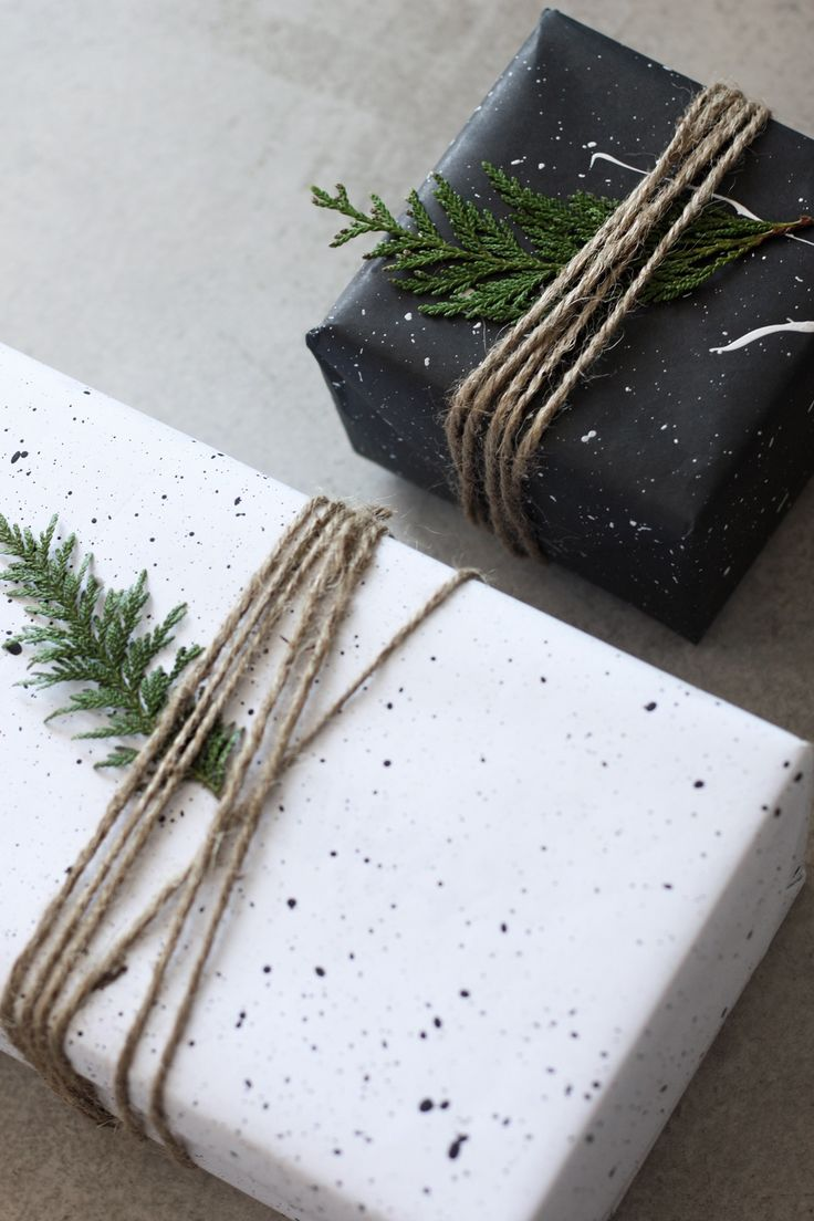 DIY: Splatter Gift Wrapping
