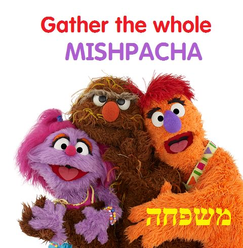 The ever important word for family--MISHPACHA!  https://www.youtube.com/watch?v=OfexSD2WuBA