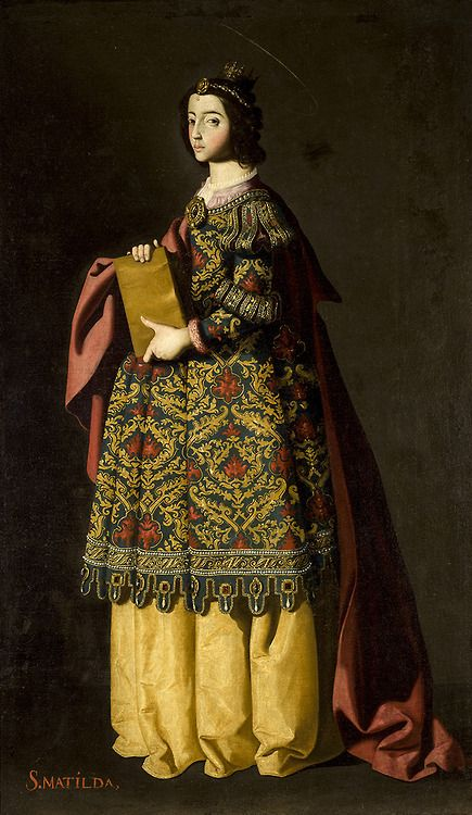 kunst-art-kunst:  Saint Matilda by Francisco de Zurbaran