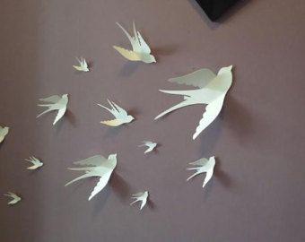 Paper Wall 3D Bird - 3D Wall Art - Paper Bird - wall paper birds