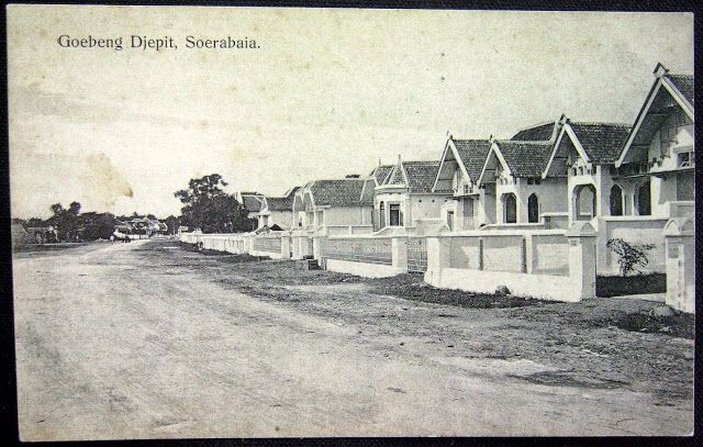 The new housing development in Surabaya, East Java ca 1900. Some of the old houses still intact today.