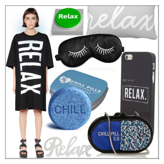 Statement T-Shirt: Relax!!! by whirlypath on Polyvore featuring OMELYA Atelier and Jelly Belly