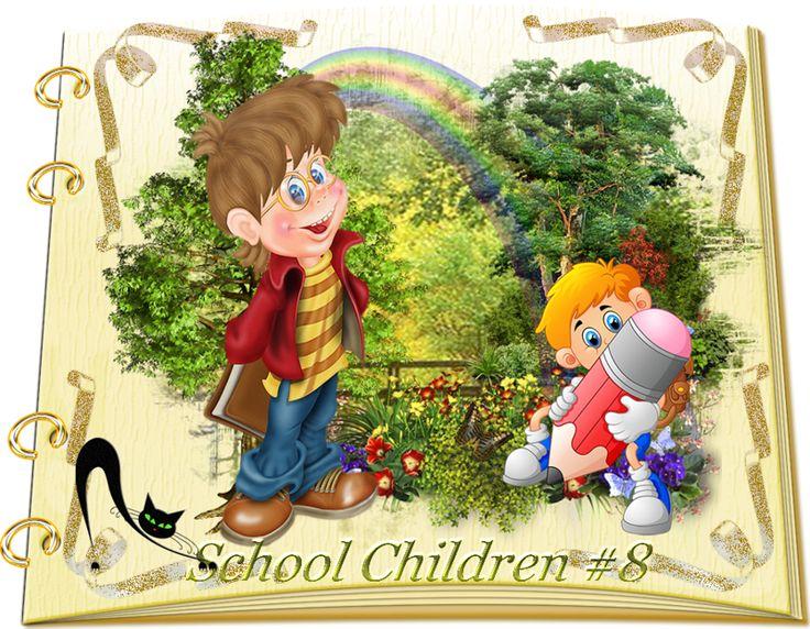 Design Wilds Cat: Vector School Children Collection #8 - 25 Ai Школь...
