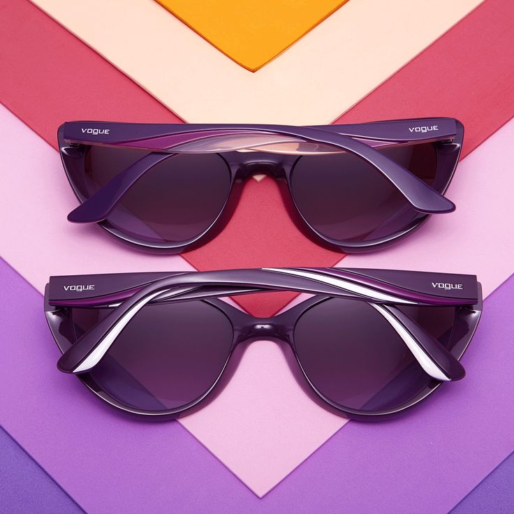 No need to choose a color when you can have them all with Vogue Eyewear's Rainbow Collection.