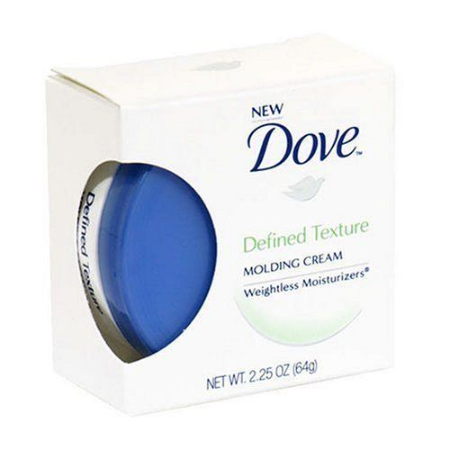 Dove Weightless Moisturizers Defined Texture Molding Cream, 2.25 Ounce by Dove. $4.29. The Dove difference is our Weightless Moisture. All Dove Styling Products are formulated with our unique Weightless Moisturizers that condition while you style so they never leave hair too stiff or sticky. For a style that looks beautiful and moves naturally. For creating unique, textured looks. Leaves your style feeling soft and natural. Made in Canada.
