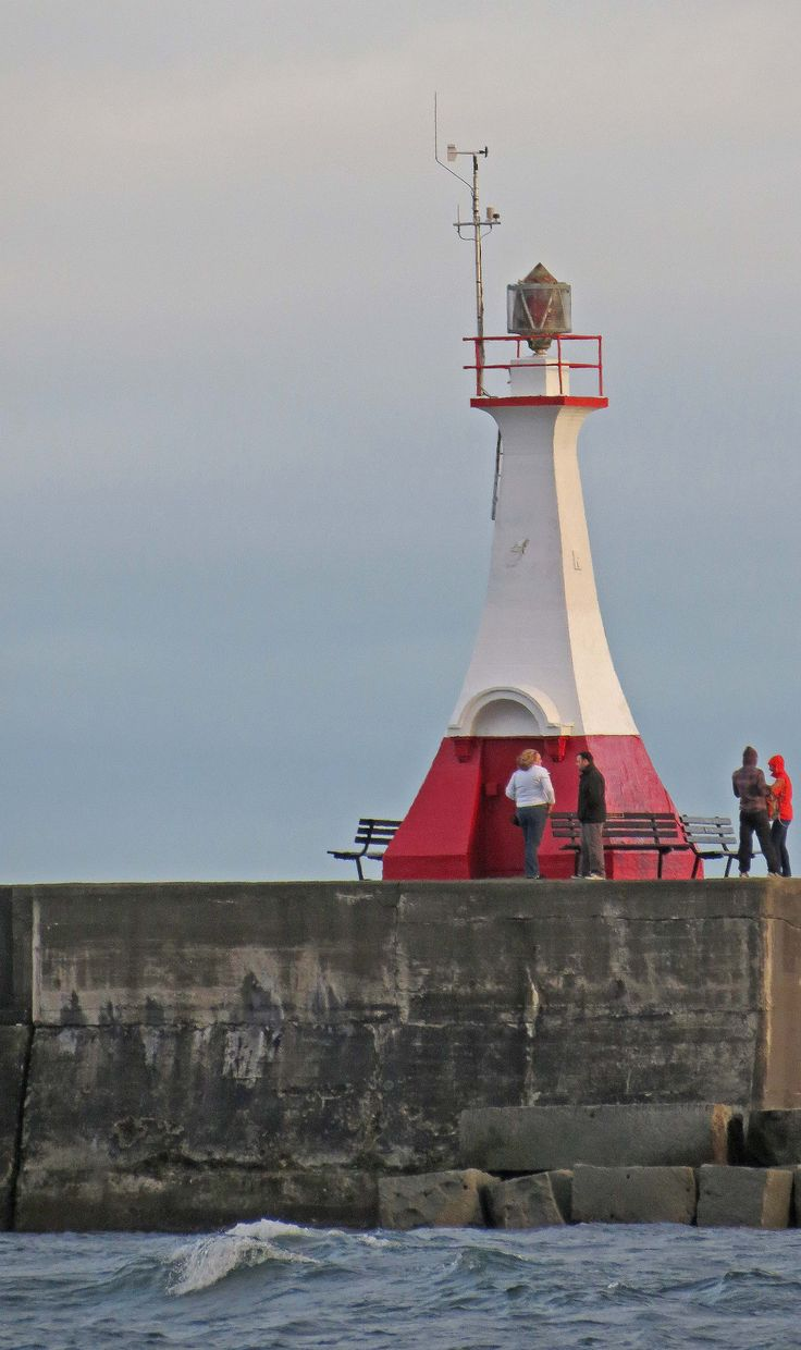 Ogden Point Breakwater Lighthouse, James Bay, Victoria, Vancouver Island, BC, Canada