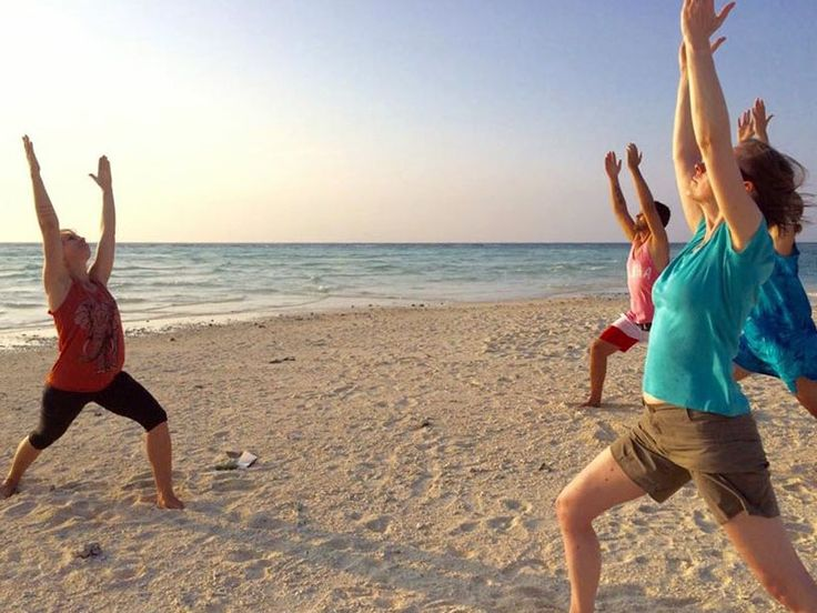 Sunset yoga on the White Island sand bar, what an experience every time! Camiguin island, Philippines.