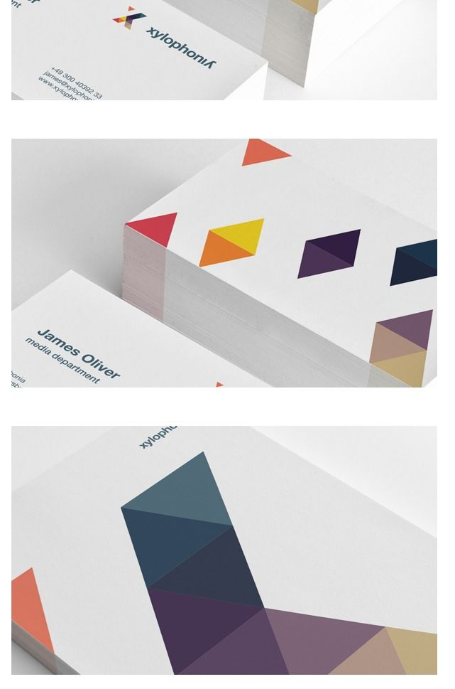 Interesting use of triangles in this logo and its applications.