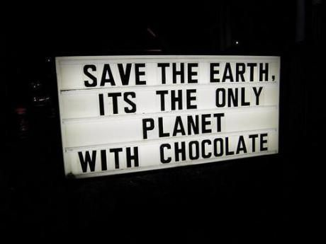 save the chocolate