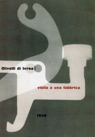 Albe Steiner - Brochure for Olivetti, 1949.