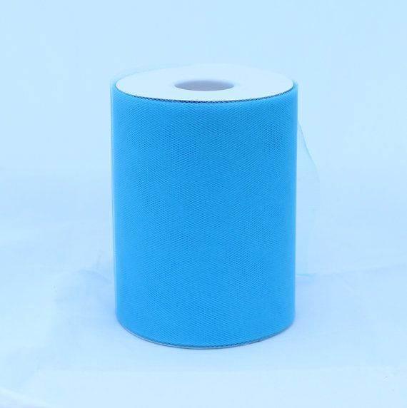 Turquoise tulle rolls  6 inches  100 yard  turquoise by BnBLLC, $5.35