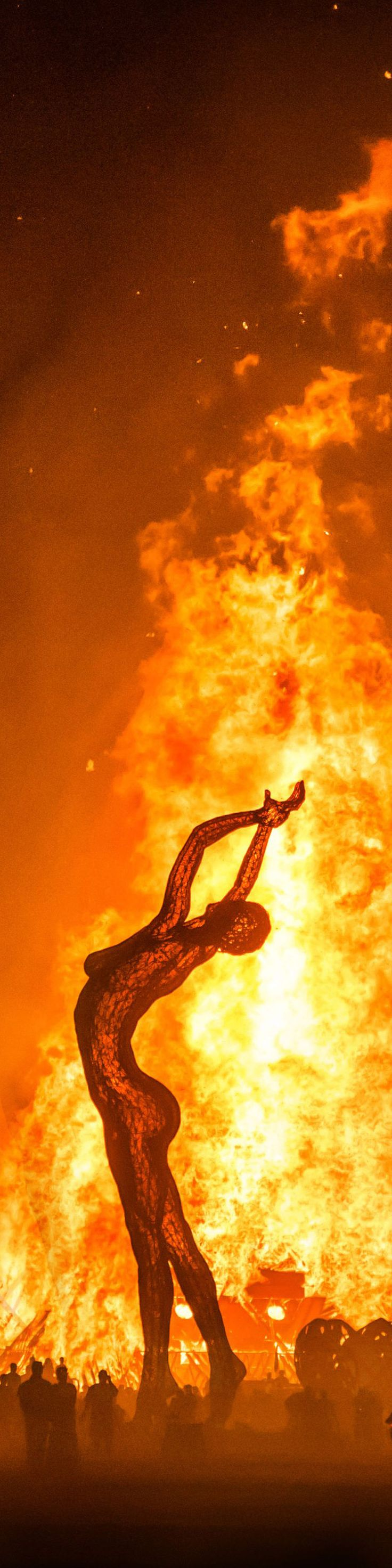 "The Final Burn - from the Exhibition: ""Cropped for Pinterest"" - photo from #treyratcliff Trey Ratcliff at www.StuckInCustoms.com #BurningMan"