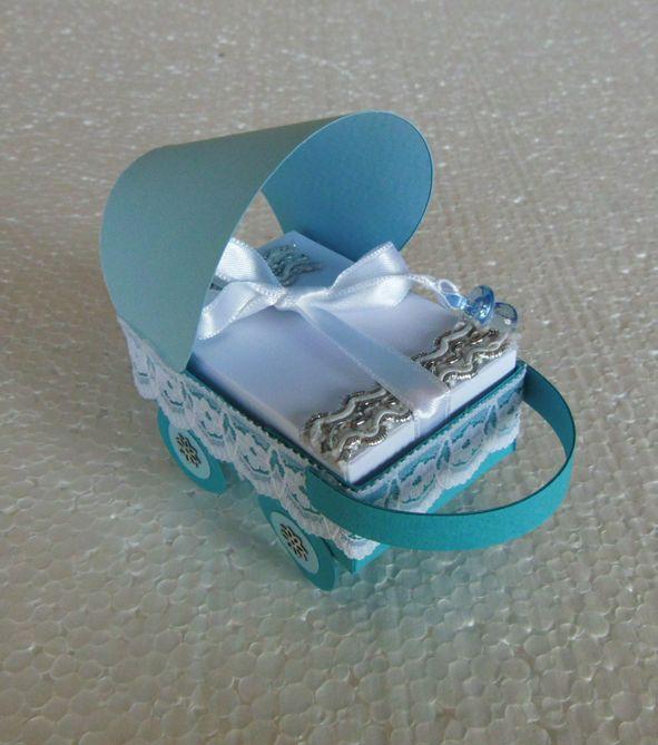 Karton bebek arabası hediye kutusu