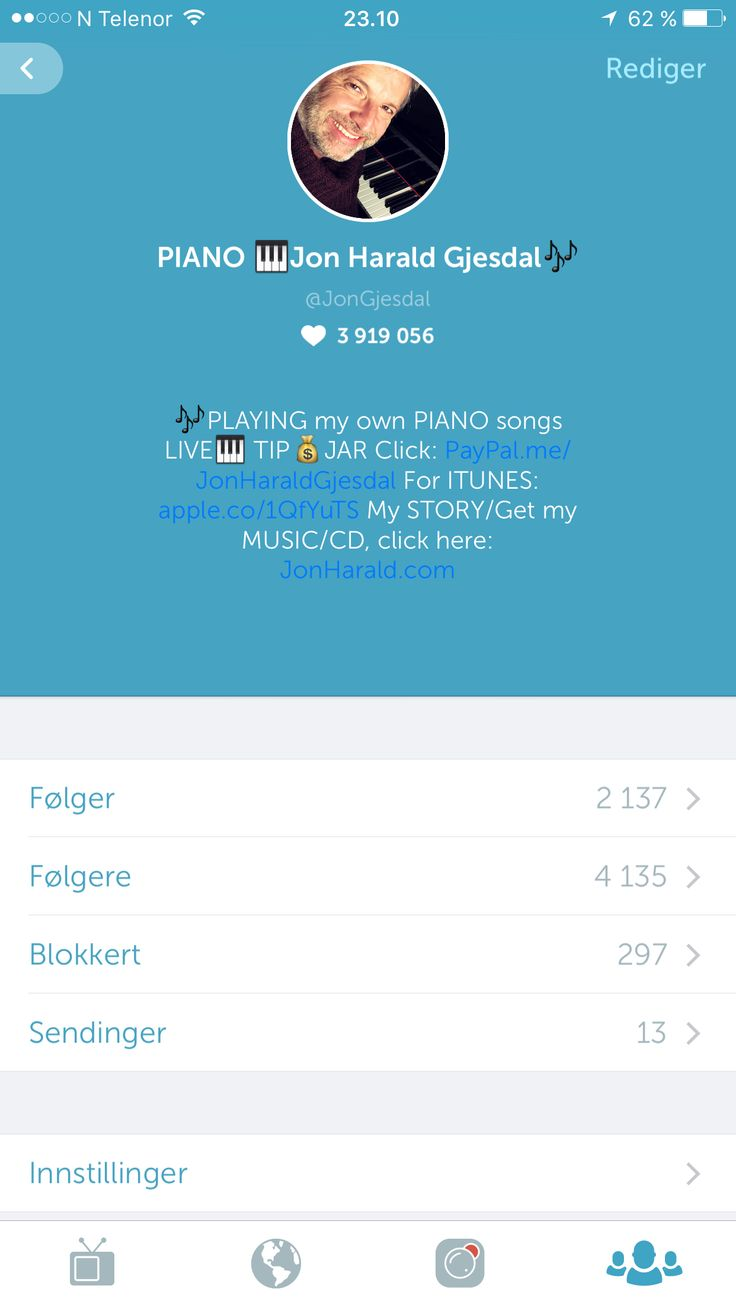 #periscope https://www.periscope.tv/JonGjesdal Piano classical music