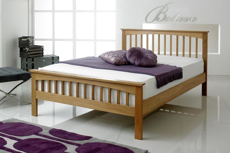 Heywood Solid Oak Bed Frame 4ft6 - Double | The Oak Bed Store