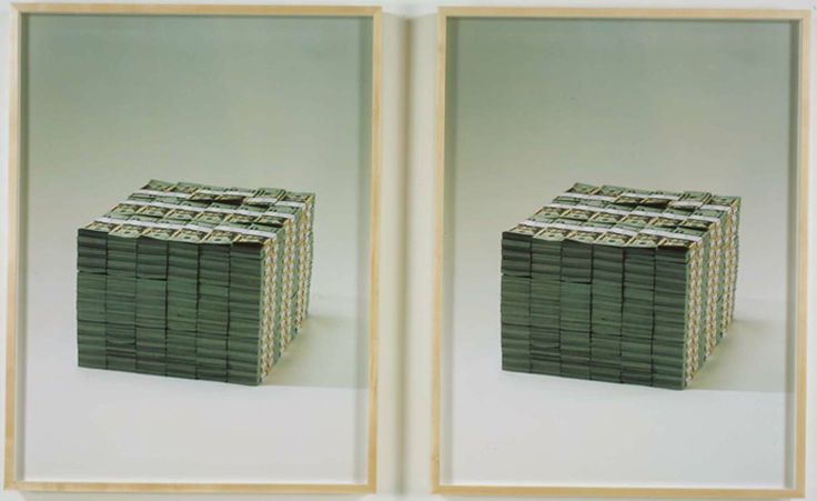 Piero Golia  Two Million Dollars, 2007  Color prints Diptych: 41 x 31 in. each