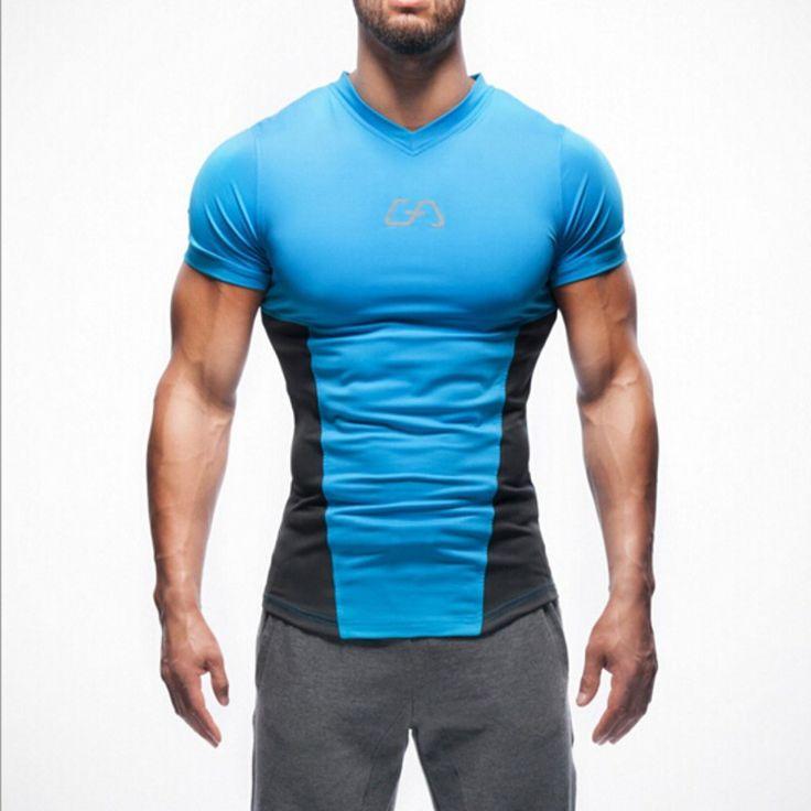 2016 New Arrival GYMShark Stringer T shirt Men Gymshark Bodybuilding and Fitness Men s Singlets Tank. Click visit to buy #TShirt