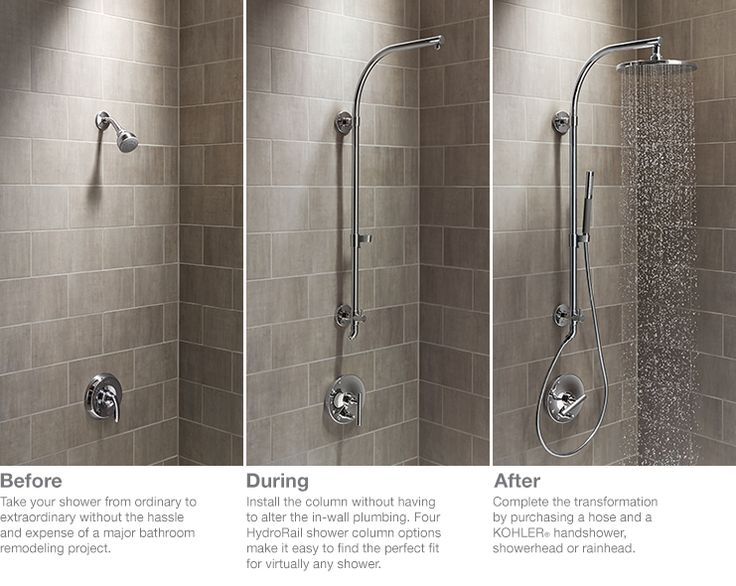 Easy bathroom upgrade with kohler hydrorail shower for Bathroom upgrades