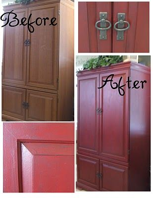 need to refinish my armoire in the family room ~ will make it look like a new piece again!