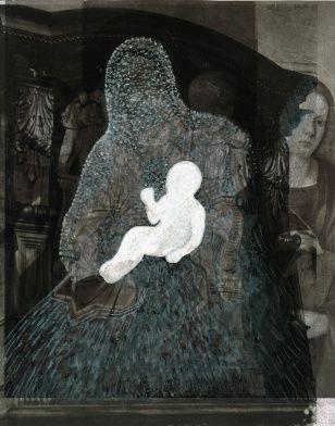 Madonna, collage, 80 x 100 cm, 2009