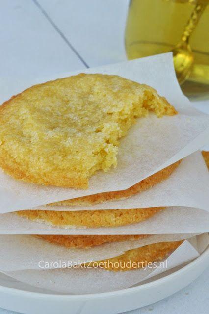 Carola Bakt Zoethoudertjes                : Citroen suiker koekjes van Martha Stewart