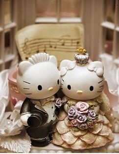 Hello Kitty wedding cake topper...super cute!
