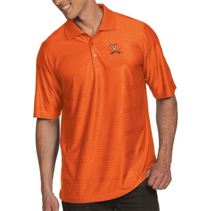 Antigua Men's Virginia Cavaliers Orange Illusion Polo, Size: Medium, Team