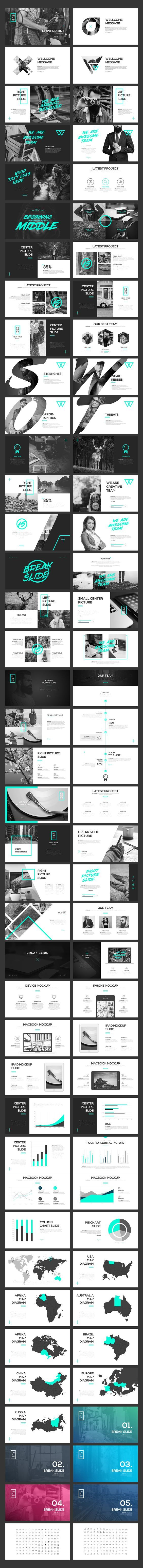 PORTFO PowerPoint Template by Angkalimabelas on @creativemarket: