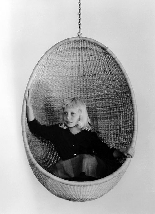 Design Is Fine: Nanna And Jørgen Ditzel, Hanging Chair Egg, Wicker. Still  In Production By Bonacina, Italy.