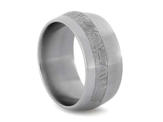 Superb Hey I found this really awesome Etsy listing at https Meteorite Wedding BandTitanium