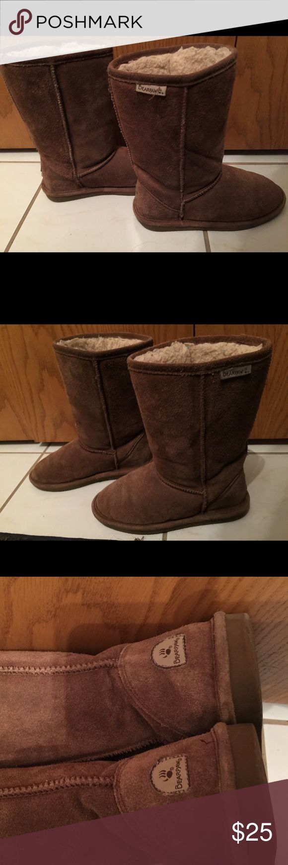 Brown Suede BearPaw boots - Girls Sz 4 Brown Suede BearPaw boots - Girls Sz 4 - Very good condition. Soles show minimal wear, suede in great condition. BearPaw Shoes Boots