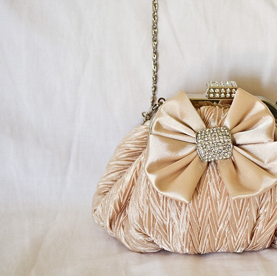 Bridal Clutch  Wedding Clutch Bridesmaids Purse Pastel by lonkoosh available from Etsy. So Pretty!
