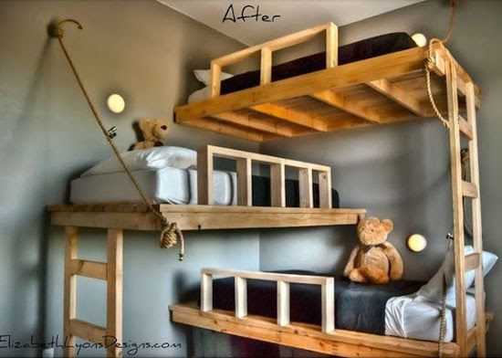 mommo design: BUNKS FOR BOYS